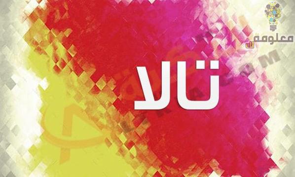 معنى اسم تالا في اللغة العربية