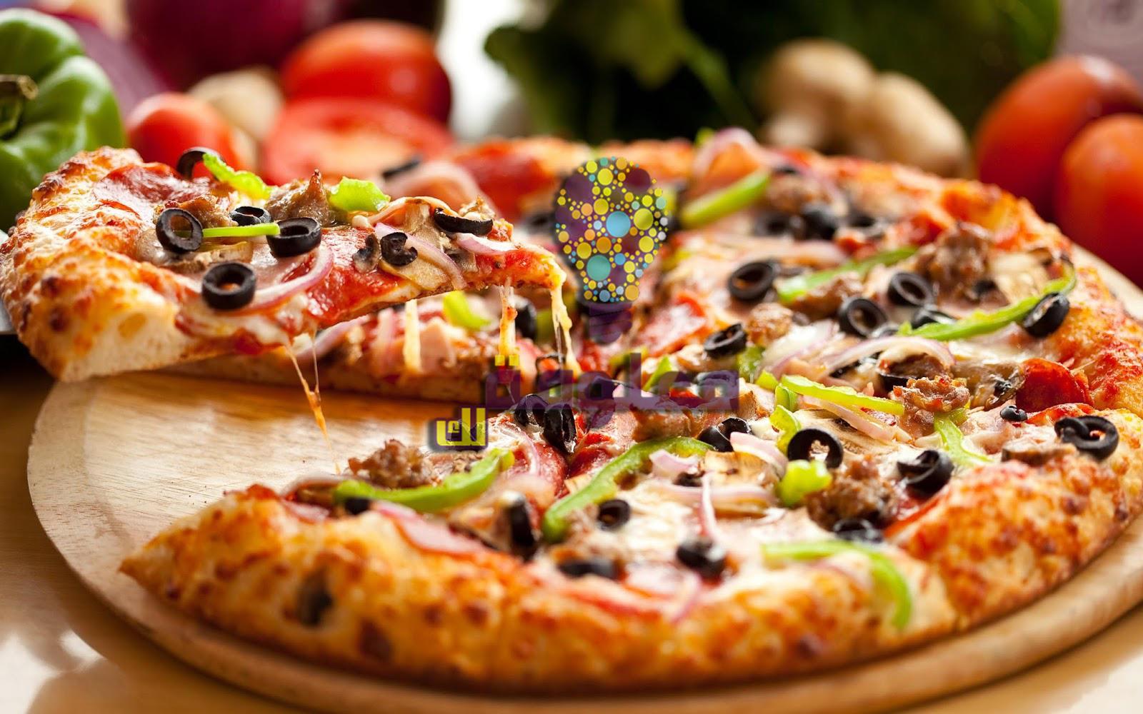 وصفة بيتزا سهلة التحضير في المنزل